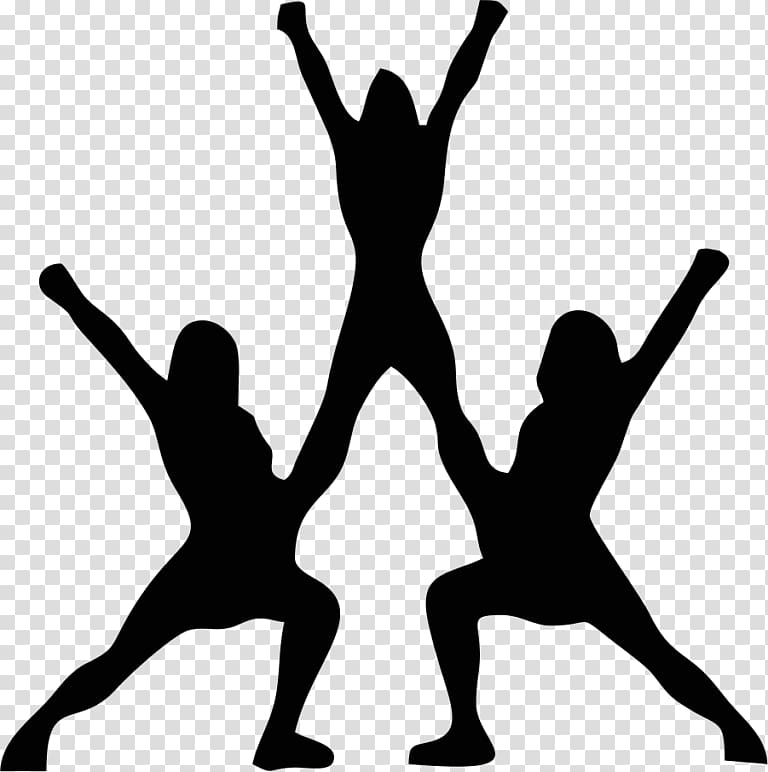 Cheerleading Stunt Silhouette Sport , Silhouette transparent.