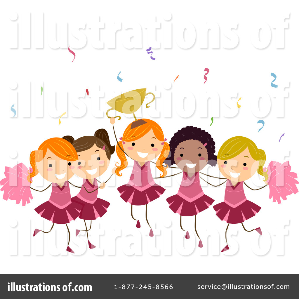 Cheerleaders Clipart #1070010.