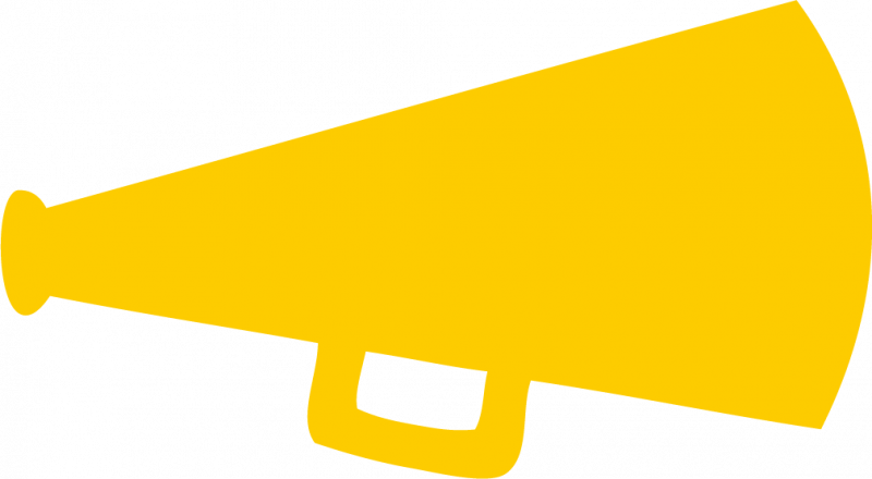 Yellow Megaphone Clipart.