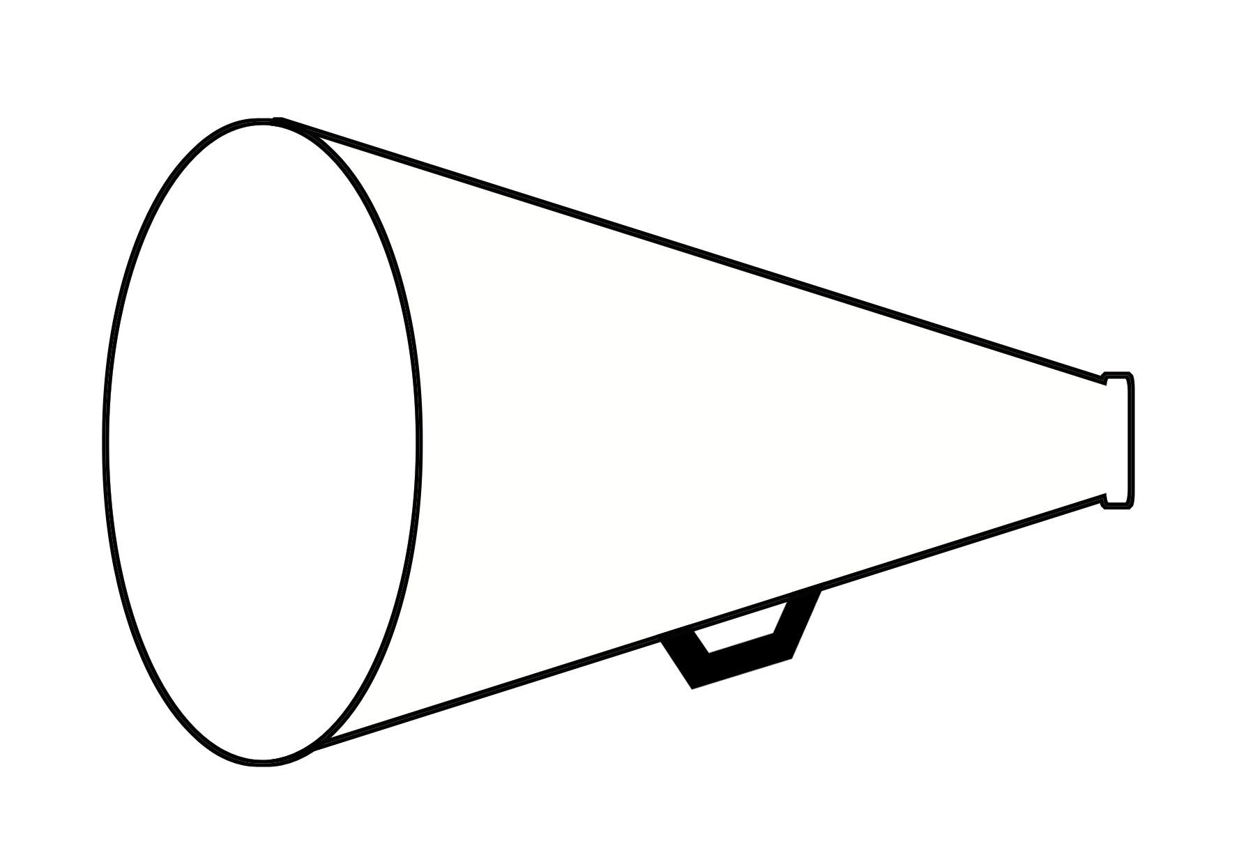 Cheer Megaphone Clipart.