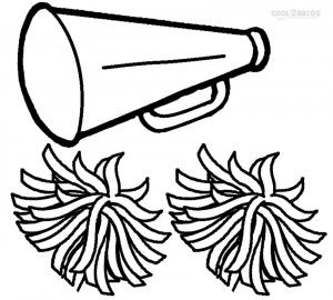 Cheerleading Megaphone Coloring Pages.