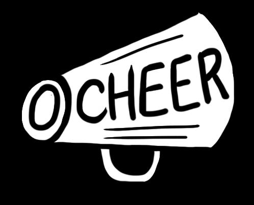 Cheerleading Megaphone Clipart.
