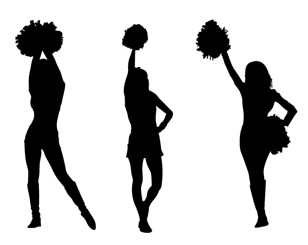Cheerleader silhouette clipart 4 » Clipart Station.