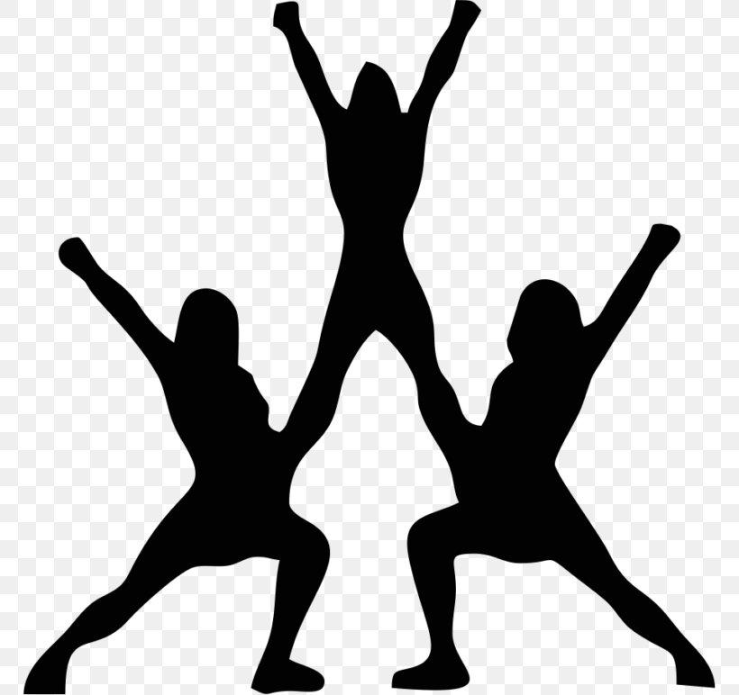 Cheerleading Stunt Silhouette Sport Clip Art, PNG, 768x772px.