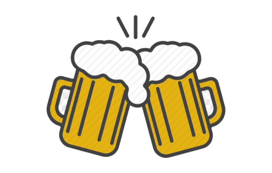 Beer Alcohol Clipart Toast Cheers Vector Transparent Png.