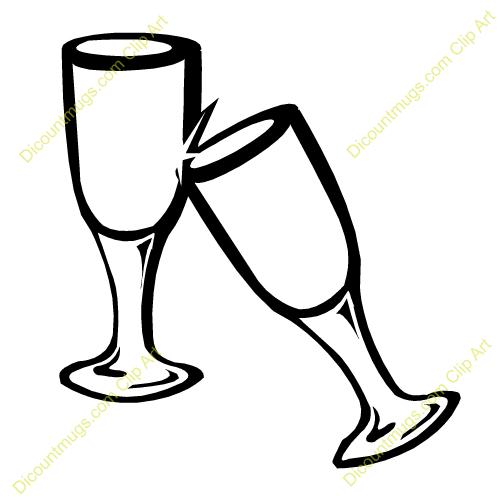 Wine cheers clipart.