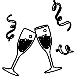 Cheers clipart black and white, Picture #345180 cheers.