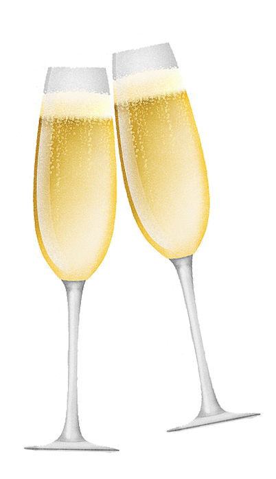Cheers Wine Glass Transparent Background PNG Image Free Download.