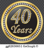40Th Birthday Clip Art.