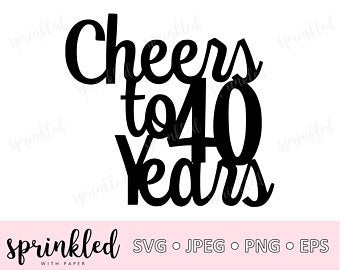 Cheers to 40 years.