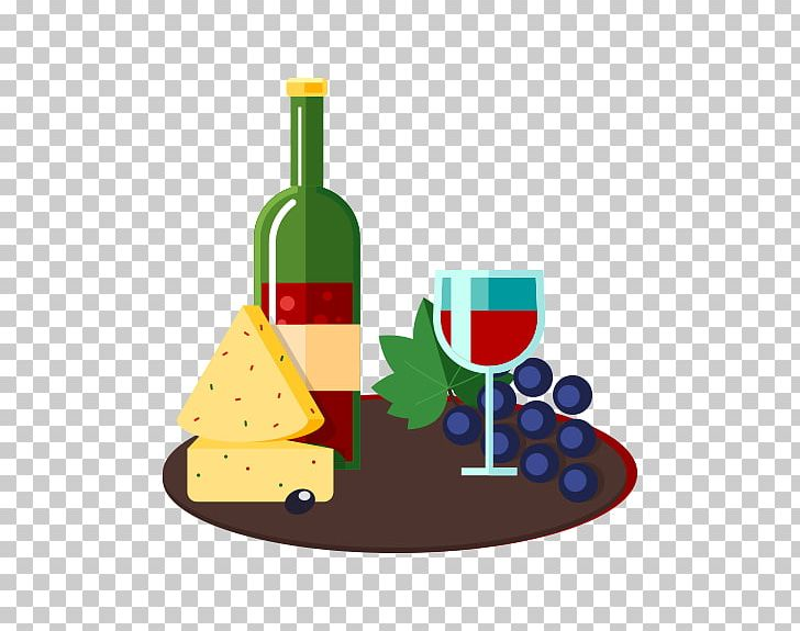 Red Wine Cheese Illustration PNG, Clipart, Bottle, Cheese.