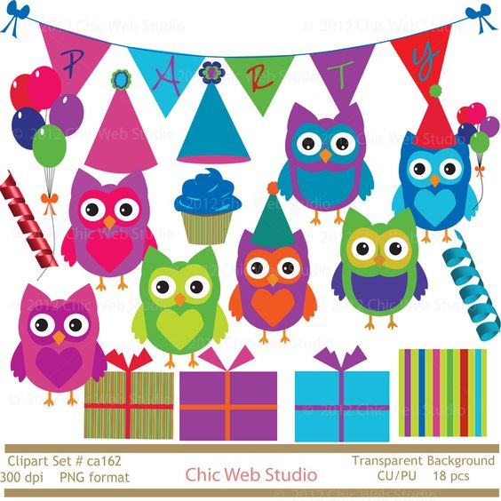 Scrapbook Clip Art Free Owl Birthday Party Ideas Owl Food Gourmet.