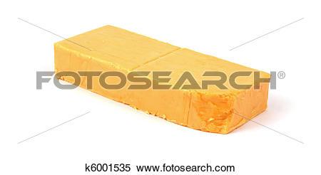 Stock Image of Sharp cheddar cheese bar k6001535.