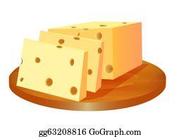 Cheese Plate Clip Art.
