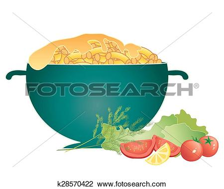 Clipart of mac and cheese k28570422.