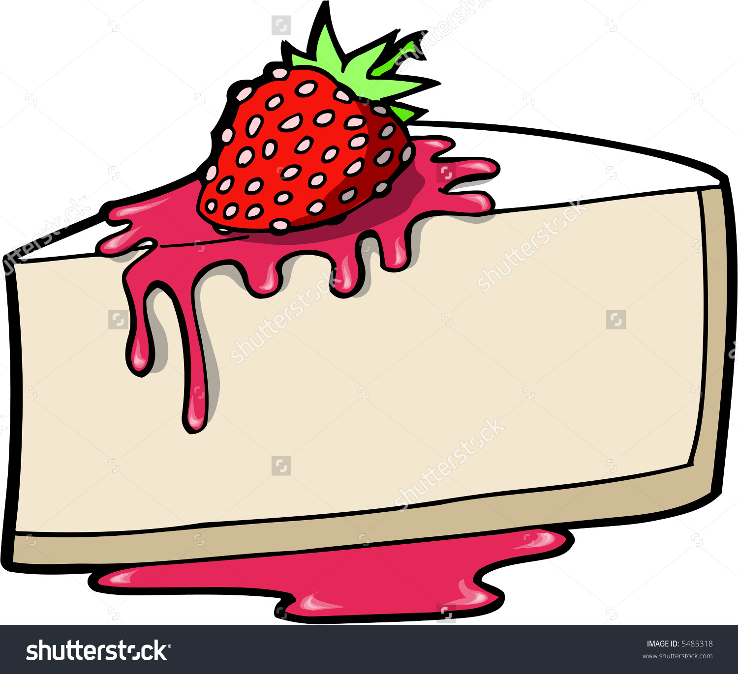 Cheese Cake Vector Illustration Stock Vector 5485318.