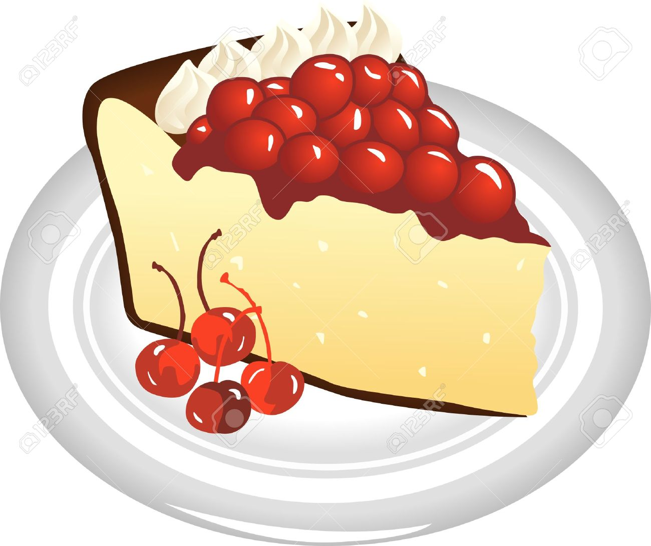 White Chocoloate Sour Cherry Cheese Cake