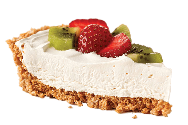 Cheesecake With Fresh Fruit transparent PNG.