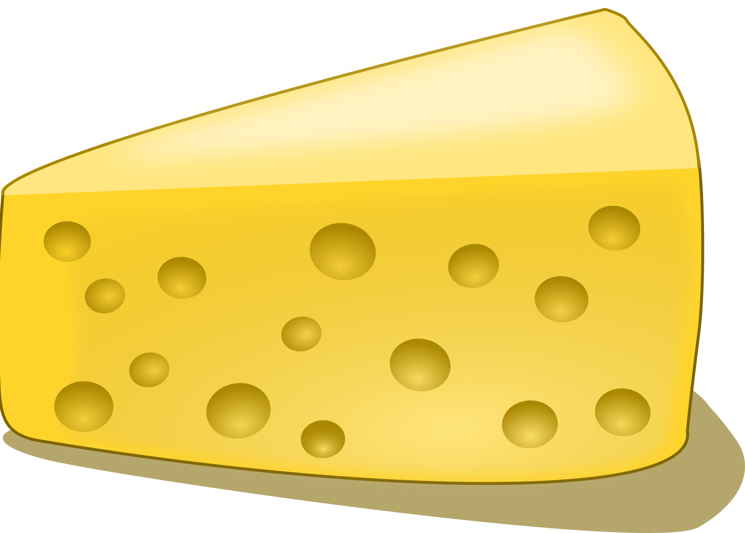 A Piece of Cheese Clip Art.