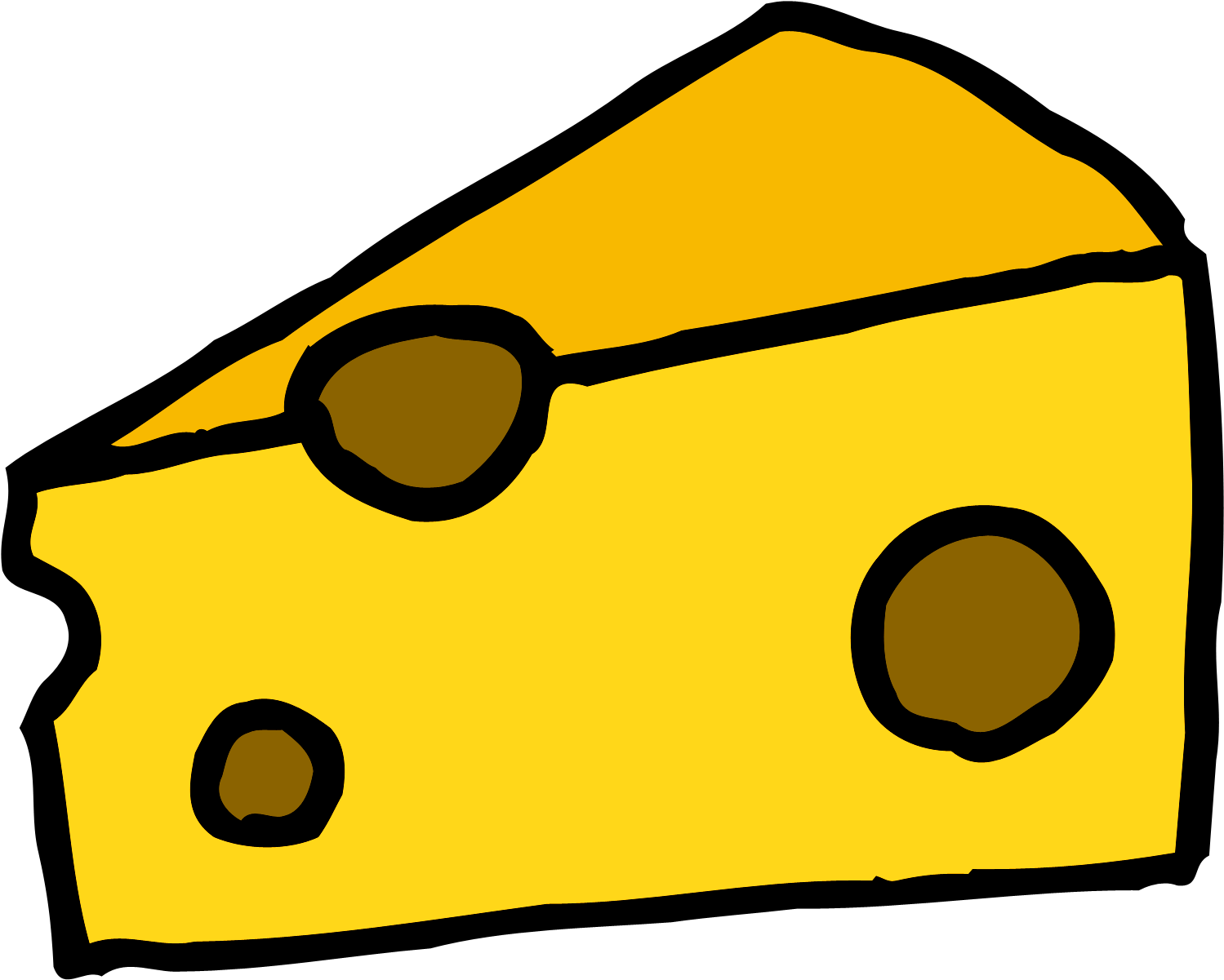 The Cheese Cartoon Transparent Background.