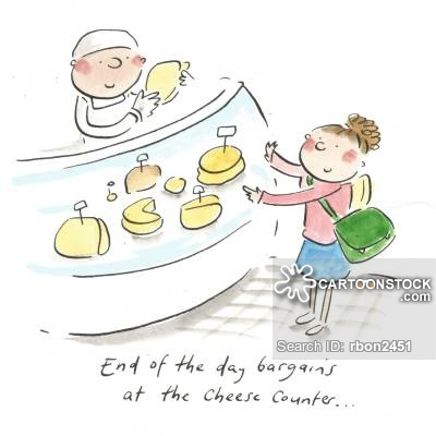 Cheese Counter Cartoons and Comics.