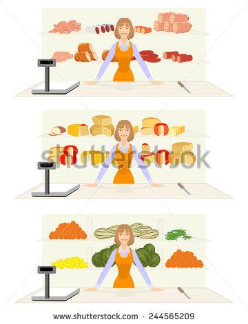Cheese Counter Stock Vectors & Vector Clip Art.