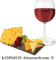 16+ Wine And Cheese Clipart.