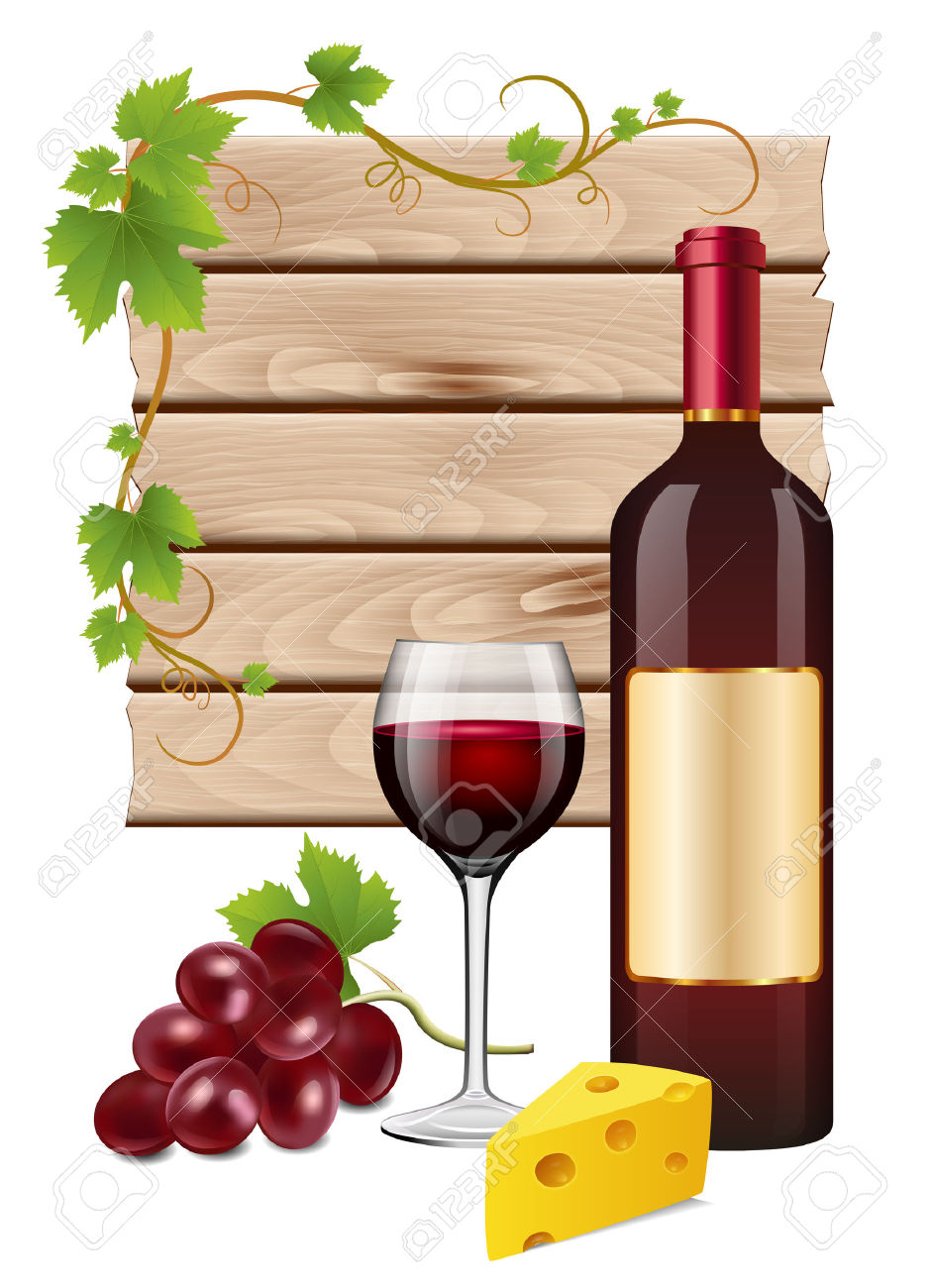 Grapes And Wine Clipart.
