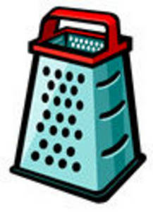 Clipart Picture of an Upright Cheese Grater.