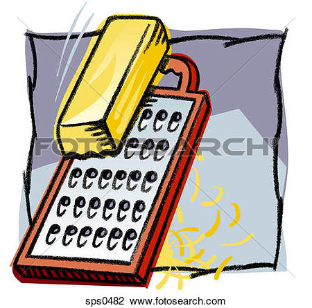 Clip Art of Grating cheese with a grater sps0482.