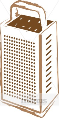 Standing Cheese Grater Clipart.