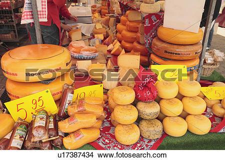 Stock Photo of Cheese Market Stall u17387434.