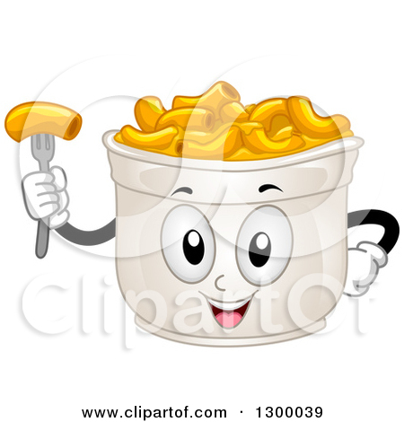 Clipart of Assorted Pasta on a Napkin.