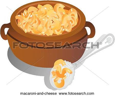 Clipart of Macaroni and Cheese macaroni.