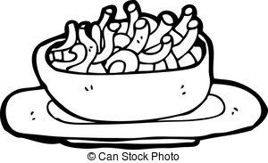 Macaroni noodle clipart.