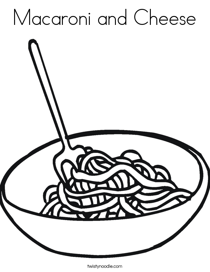 Noodles clipart black and white.