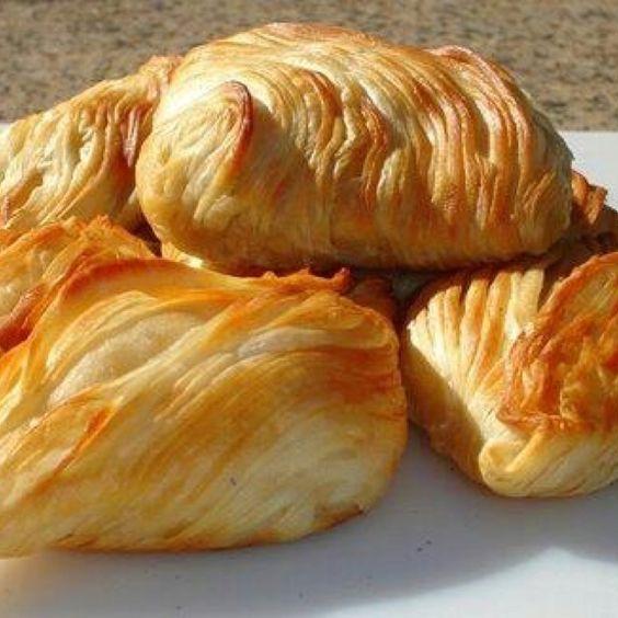 Maltese pastizzi (cheese pie, meat pie & peas/onions pie).