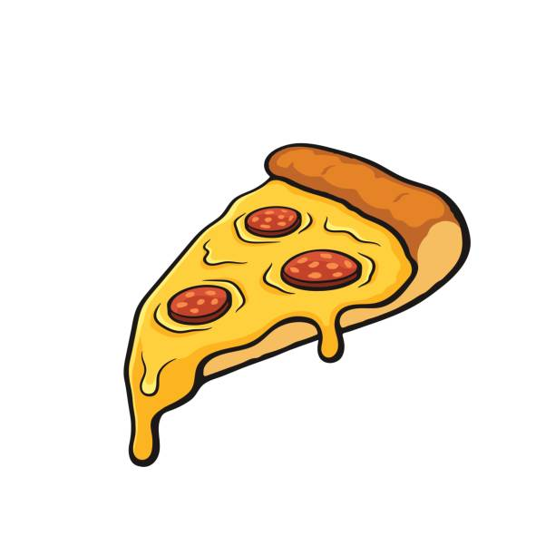 Top Cheese Pizza Slice Clip Art Vector Graphics And Illustrations.