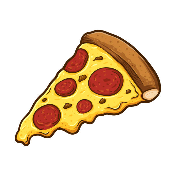 Best Pizza Slice Illustrations, Royalty.