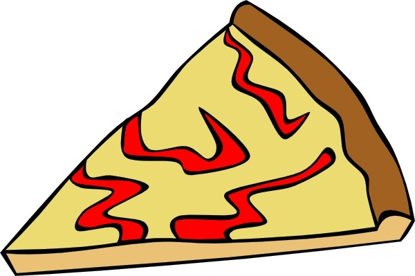 Cheese Pizza Slice clip art Free vector in Open office drawing svg.