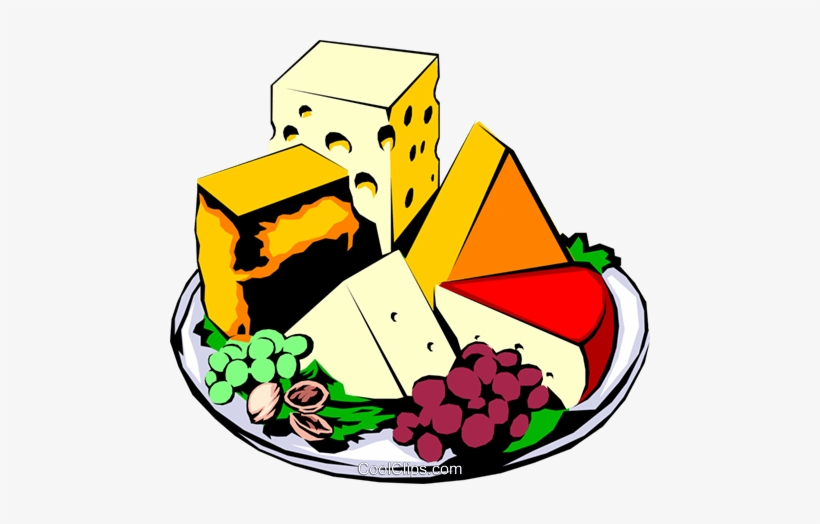 Cheese Platter Royalty Free Vector Clip Art Illustration.