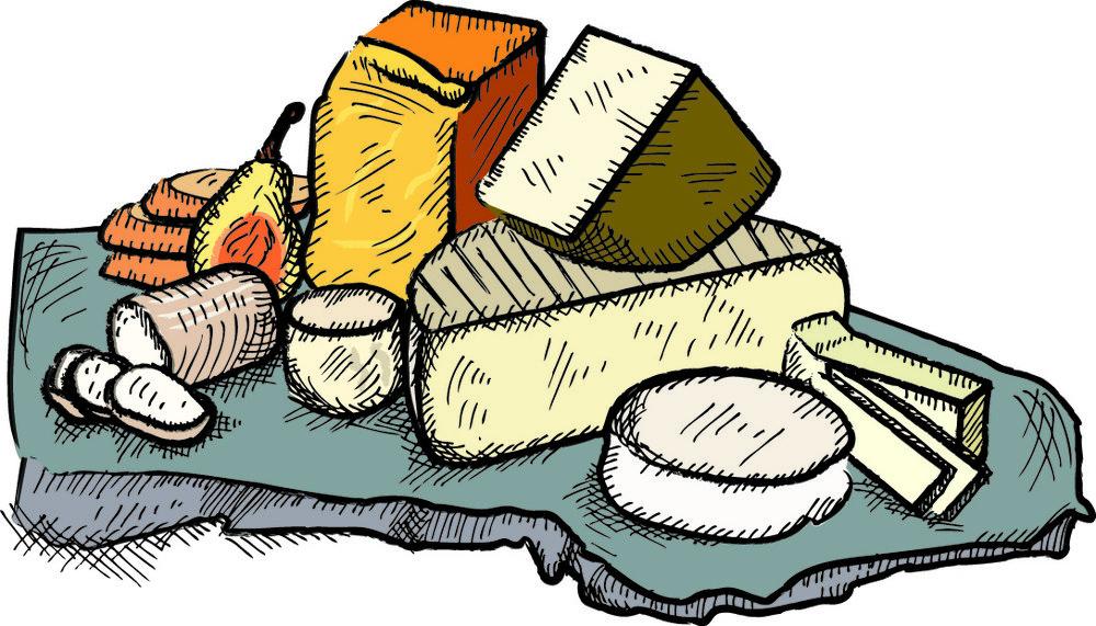 Cheese clipart cheese platter, Cheese cheese platter.