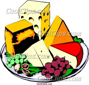Cheese Plate Clipart.