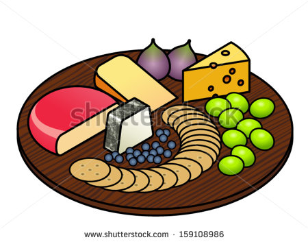Cheese Platter With A Selection Of Cheeses Fruit And Crackers.