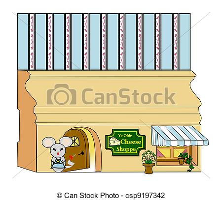Clip Art of Cheese Shop.