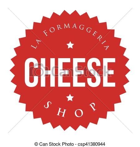 EPS Vector of Cheese Shop vintage stamp csp41380944.