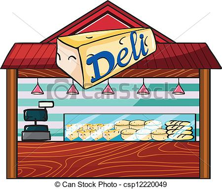 EPS Vector of A cheese store.
