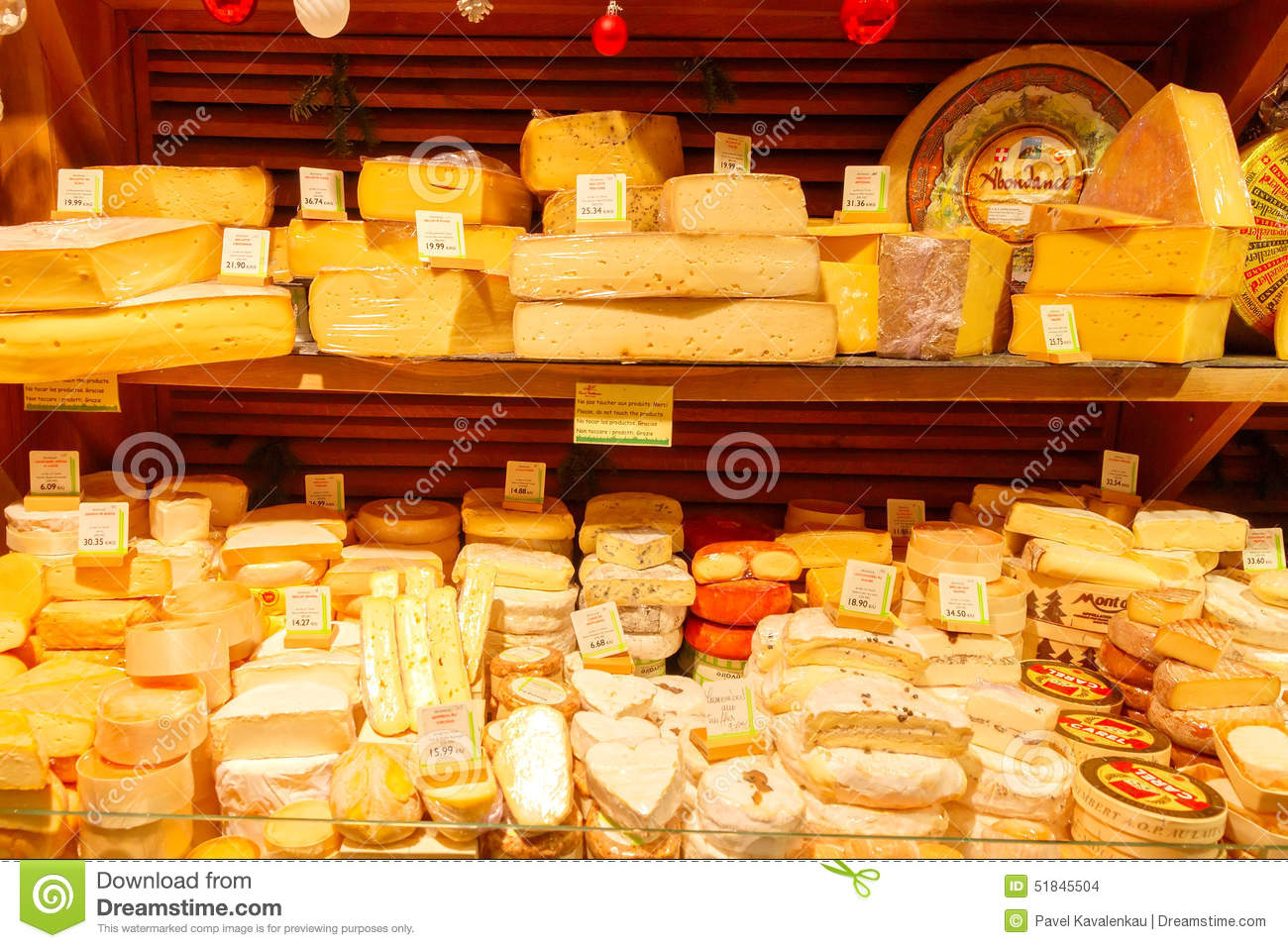 Paris. Cheese Shop Editorial Stock Image.