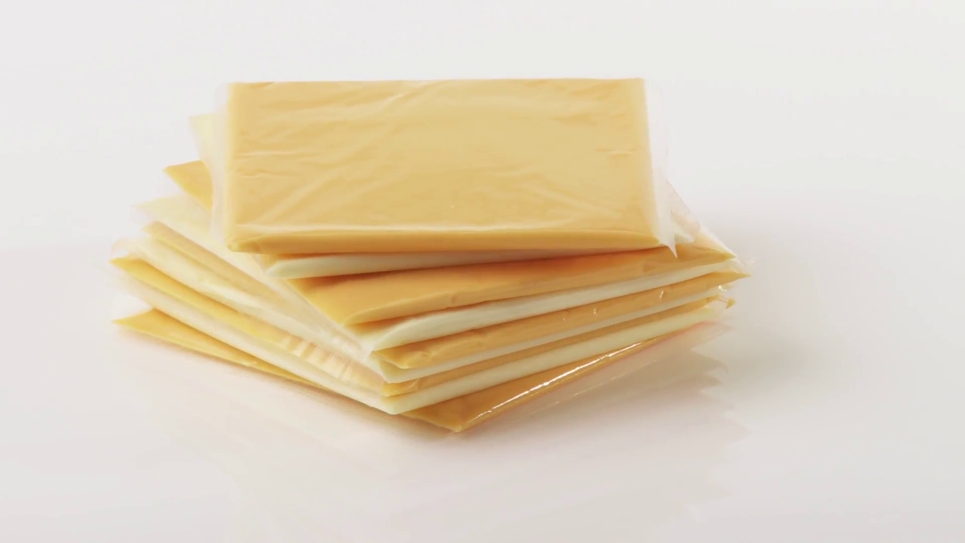 Cheese slices (different cheeses) Stock Video Footage.
