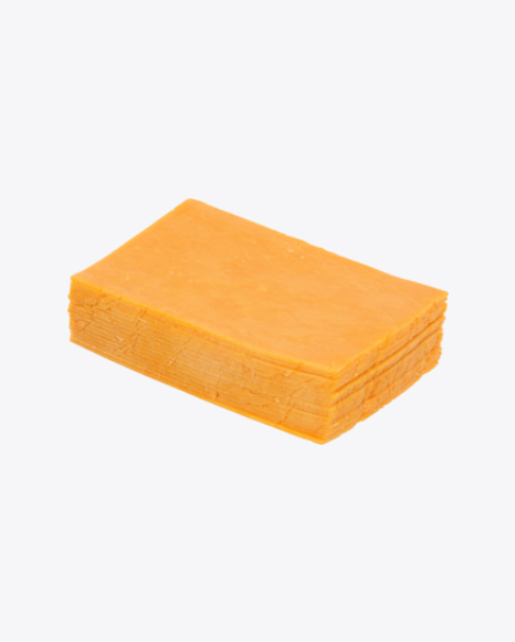 Download Cheddar Cheese Slices Transparent PNG on Yellow Images 360°.
